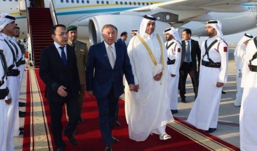 Назарбаев ресми сапармен Катар мемлекетіне келді