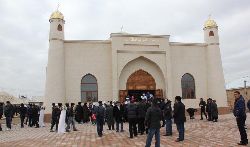 Бас мүфти Шардарада «Әль-Фаттах» мешіттің ашылуына қатысты (ФОТО)