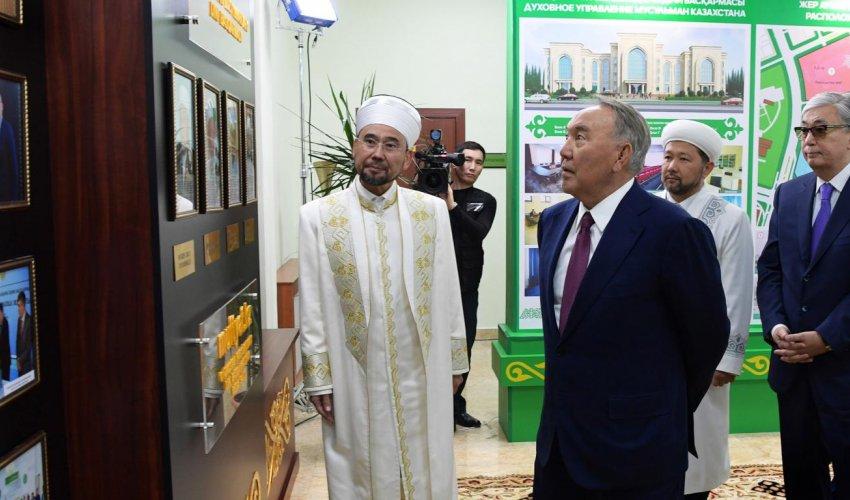 Мемлекет басшысы Қазақстан мұсылмандары діни басқармасының жаңа ғимаратын аралады (ФОТО+ВИДЕО)