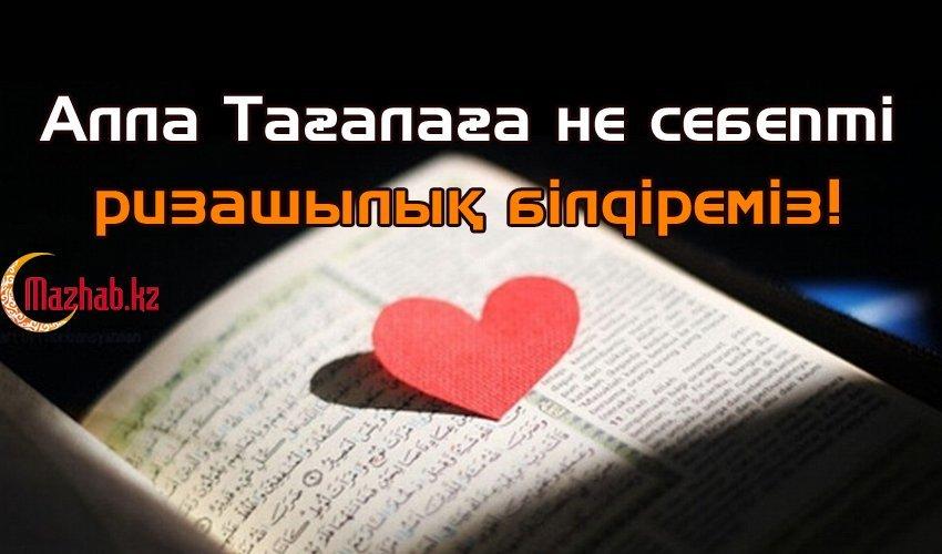 АЛЛА ТАҒАЛАҒА НЕ СЕБЕПТІ РИЗАШЫЛЫҚ БІЛДІРЕМІЗ!
