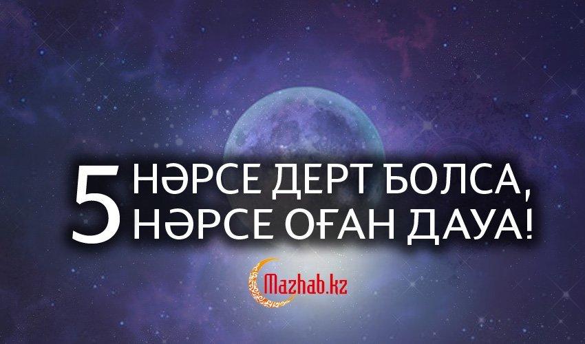 5 НӘРСЕ ДЕРТ БОЛСА, 5 НӘРСЕ ОҒАН ДАУА!