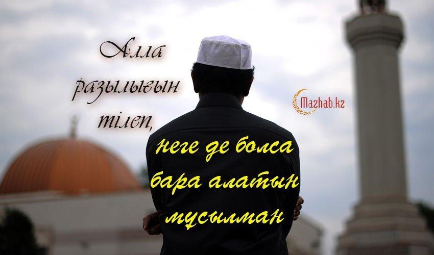 Алла разылығын тілеп, неге де болса бара алатын мұсылман