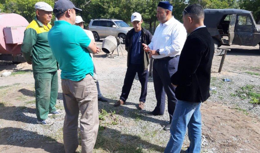 Шақа ауылында мешіт құрылысы жүріп жатыр (ФОТО)